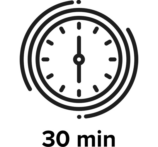 Có mặt sau 30 phút và vận chuyển trong vòng 1 tiếng