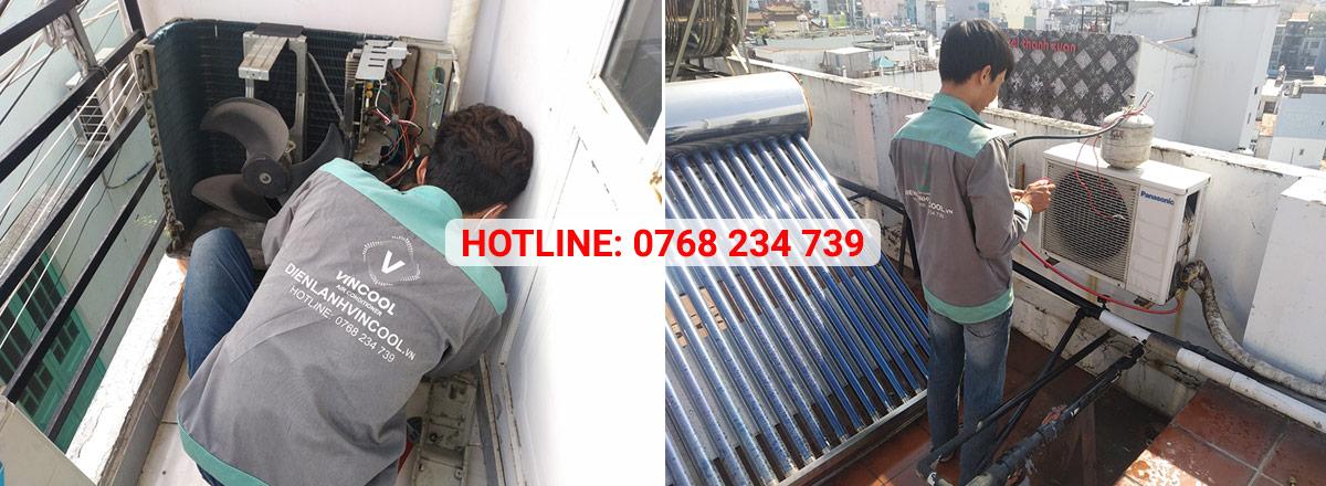 Vincool chuyên thi công, lắp đặt, sửa chữa vệ sinh máy lạnh tại quận Bình Tân