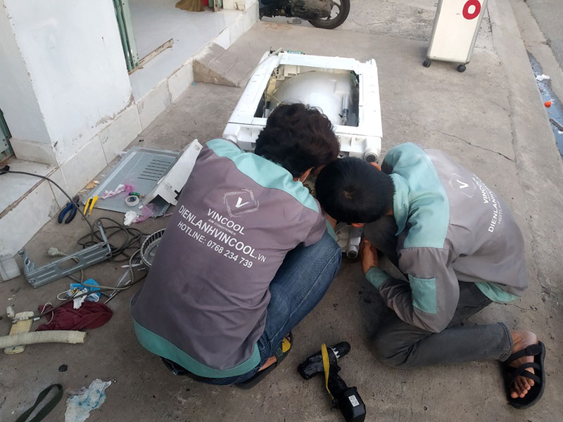 Vincool cung cấp các gói dịch vụ sửa chữa máy giặt sau đây