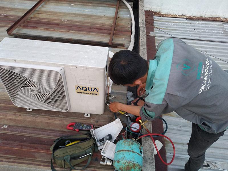 Quy trình sửa máy lạnh quận Bình Thạnh