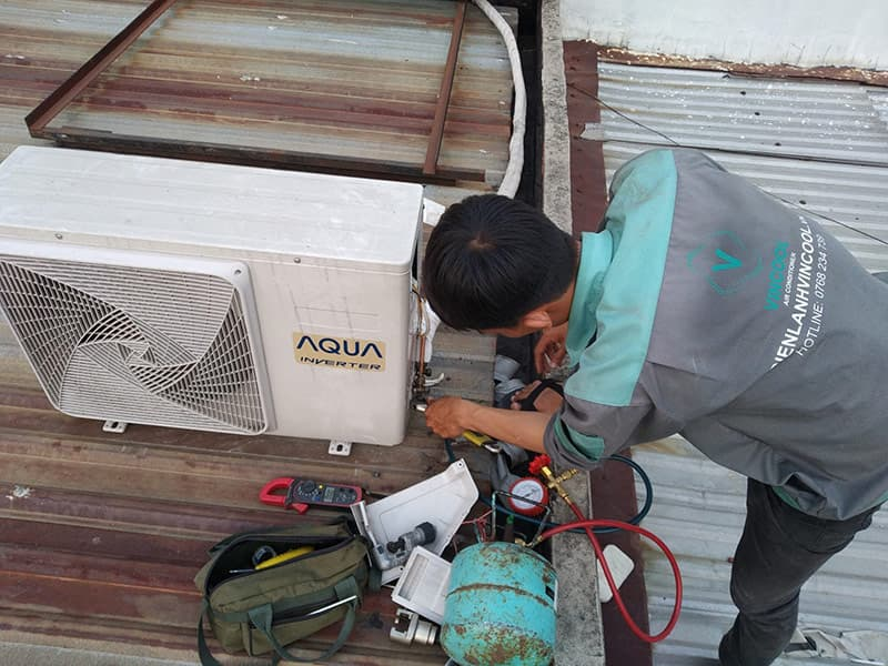 Quy trình sửa máy lạnh quận Bình Thạnh khoa học