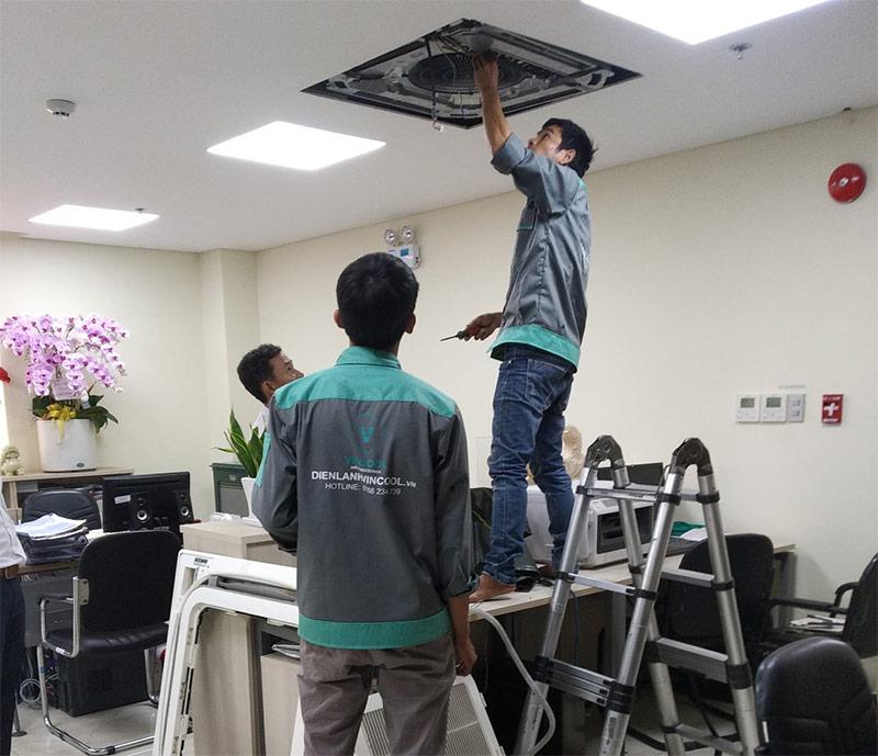 Quy trình tháo lắp máy lạnh quận Tân Phú