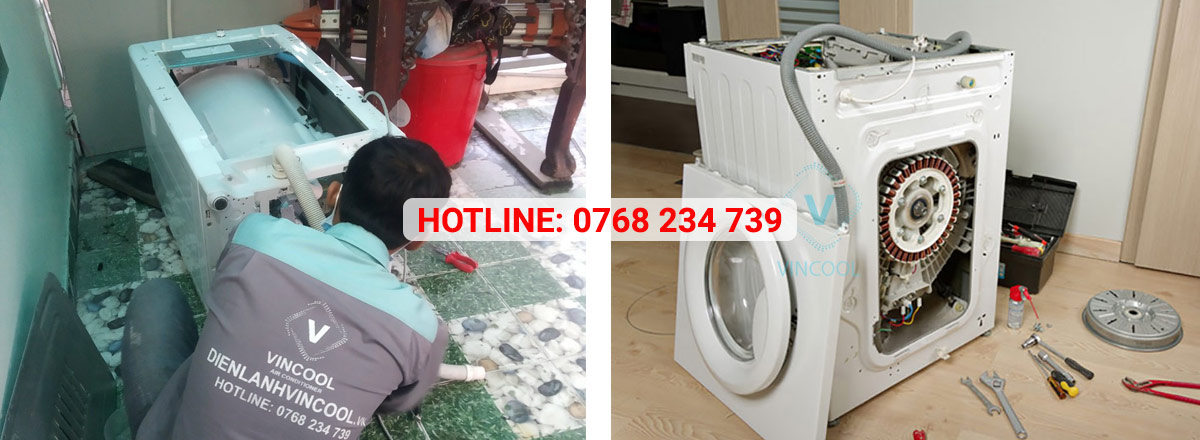 Quy trình sửa máy giặt uy tín, chuyên nghiệp chỉ có tại Vincool