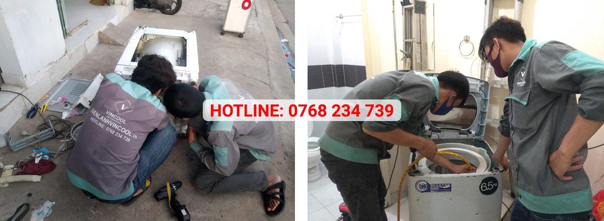 Dịch vụ sửa máy giặt quận Tân Phú của VinCool có mặt trong 30 phút