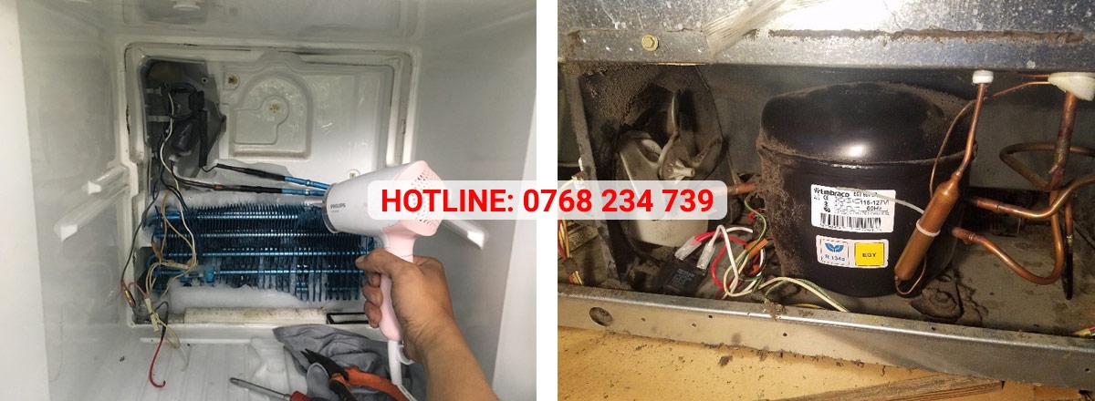 Sửa tủ lạnh thay linh kiện chính hãng bảo hành lên đến 12 tháng