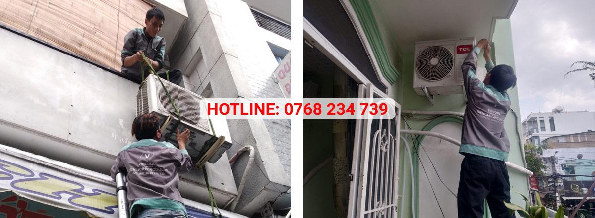 Lắp đặt máy lạnh quận Tân Phú giá rẻ có mặt trong 30 phút