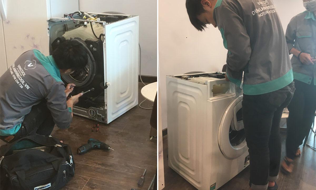 Dịch vụ sửa máy giặt tại nhà Vincool, cam kết có mặt trong 30 phút
